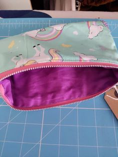 Unicorn pencil case by ButtonThisOccasion on Etsy Unicorn Pencil Case, Purple, Pink, Back To School, Handmade Items, How To Make, Bags, Etsy, Handbags