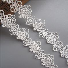 Details about 2 yd Flower Embroidered Lace Edge Trim Ribbon Wedding Applique DIY Sewing Craft Diy Wedding Dress, Wedding Fabric, Ribbon Wedding, Embroidery On Clothes, Ribbon Embroidery, Machine Embroidery, Lace Ribbon, Fabric Ribbon, Sewing Trim