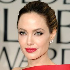 Angelina Jolie hairstyle for  Golden Globes: The Beauty Cateogry