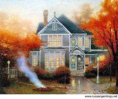 Thomas Kinkade Paintings Value | Find original Thomas Kinkade Paintings for sale.