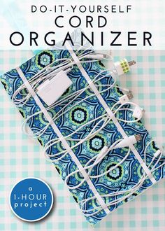 Make your own DIY Travel Cord Organizer to keep all your device cords organized while travling - My Daily Bubble