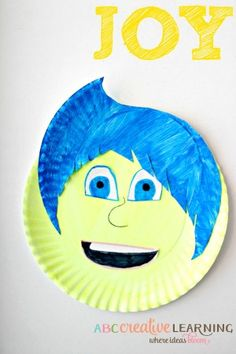 Inside Out Inspired Kids Craft JOY