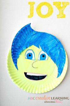 Inside Out Inspired Kids Craft JOY
