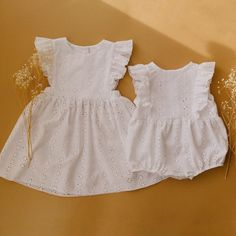 Handmade Heirlooms at Dannie and Lilou Baby Animal Drawings, Pinafore Dress, Playsuit, Baby Kids, Girl Outfits, Flower Girl Dresses, Summer Dresses, Wedding Dresses, Bubble