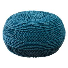 I pinned this Cable Knit Pouf in Blue from the Winter Whites & Brights event at Joss and Main!