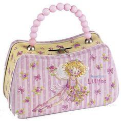Tirelire métal Princesse LilliFée en forme de sac à main