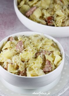Łazanki | AniaGotuje.pl Polish Recipes, Polish Food, Pasta Salad, Potato Salad, Oatmeal, Pierogi, Potatoes, Dinner, Cooking