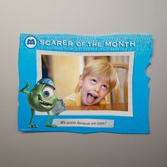 Scarer of the Month Photo Frame - Monsters, Inc. Movie Night - Disney Movie Night - Family Movie Night