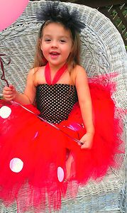 Minnie Mouse Tutu Dress with Tulle Puff Ears Great Halloween Costume | eBay