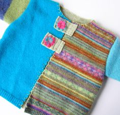 Children's Original Felted Sweater Recycled by carispetitecloset