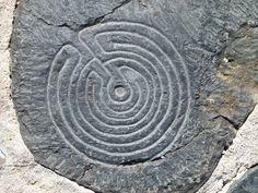Labyrinth in het midden van het labyrinth van Klaus van der Logt aan de Waalkade Nijmegen