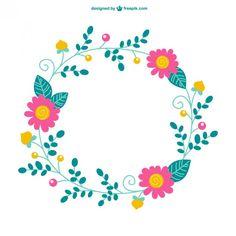 Plantilla minimalista con flores Vector Gratis