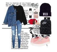 """Untitled #62"" by clodfever on Polyvore featuring Lipsy, Monki, Forever 21, Vans, Wildfang, Casetify, Daniel Wellington and Charlotte Tilbury"