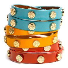 Tory Burch Double Wrap Bracelet, found on polyvore.com