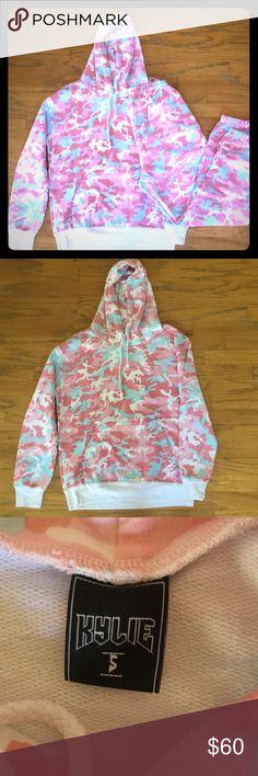 Original Kylie Jenner Camo Sweatpants Candy Woodland Pink Blue /& White Size S