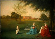 Arthur Devis, Members of the Maynard Family in the Park at Waltons, 1755-1762, oil on canvas, 138.5 x 195.6 cm ( National Gallery of Art, Washington DC)
