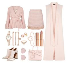 """""""Pink on pink on pink on pink"""" by sally-taylor-winter on Polyvore featuring Madderson London, Alice + Olivia, Anne Klein, Charlotte Tilbury, Love Is, Yves Saint Laurent and Forever 21"""