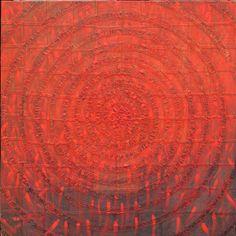takahikohayashi:  2007 - The nest of wind - h91x91cm painting, collage on panel 林孝彦 HAYASHI Takahiko 2007