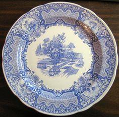 Decorative Dishes - Blue Toile Transferware Cherub Medallions Exotic Garden Plate, $34.99 (http://www.decorativedishes.net/blue-toile-transferware-cherub-medallions-exotic-garden-plate/)