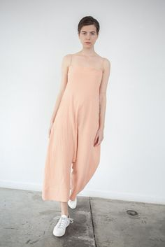Caron Callahan Mali Jumpsuit in Peach | Oroboro Store | Brooklyn, New York