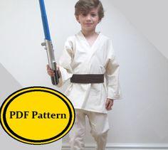 Jedi Costume Sewing Pattern Star Wars Luke Skywalker Anakin