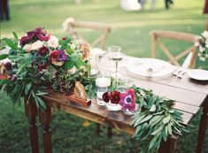 Sweetheart table with beautiful florals and agate details