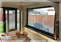 Perfect Fit Venetian Blinds on windows and sliding doors, fitted by Harmony Blinds & Shutters Perfect Fit Blinds, Dining Area, Dining Room, Shutters, Sliding Doors, Venetian, Windows, Curtains, Interior