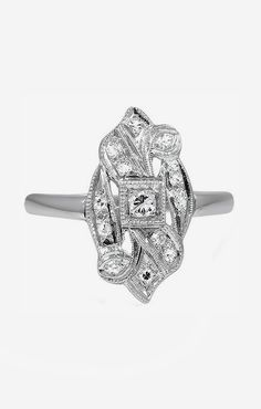 The Sileas Art Deco Engagement Ring - I love estate pieces - this is the kind of engagement ring I would LOVE.