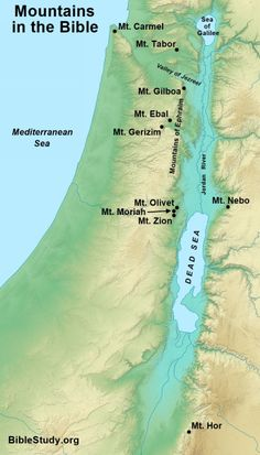 Mountains in the Bible Map