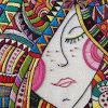 Discover thousands of images about Love this embroidery- Right down to the nose ring! Great shop with fun/bright colored designs.I Dream of Colors Hand Embroidered Art by CapriciousArts on Etsy ♒ Enchanting Embroidery ♒ embroidered hippie portrait - Embroidery Applique, Cross Stitch Embroidery, Embroidery Patterns, Machine Embroidery, Bordados E Cia, Thread Art, Fabric Art, Needlework, Textiles