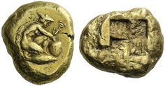 G1205 An Excessively Rare and Exceptional Greek Electrum Stater of Kyzikos (Mysia), a Masterful Depiction of Hermes 460-400