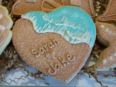Cakes On The Lane: Cookies for Sarah and Jakes beach wedding ...