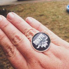 Adjustable Danzig Ring Misfits Fiend Punk Gift by AbbiesAnchor