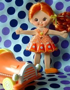 Retro Flatsy Doll 1969 Vintage Original Outfit by CelwinsCloset