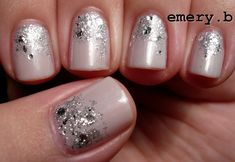 opi moon over mumbai & crown me already.--classier idea to our last years new years glitter nails haha