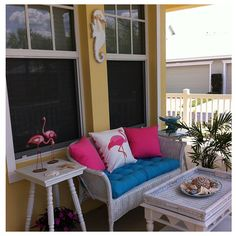 More from the# front porch #wicker #pink #seahorse...   Wicker Blog  wickerparadise.com