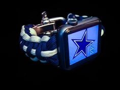 Apple Watch Dallas Cowboys Paracord Band, 42mm and 38mm, Stainless Adjustable Clasp, MilSpec cord, NFL, The Boys, America's Team, NFC East