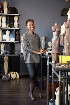 Gina Riley (Rebel Designs Accessories) is featured in the Spring 2014 issue of where women create BUSINESS magazine #studio #office