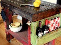 kücheninsel selber bauen holzpalette regale  wohnidee