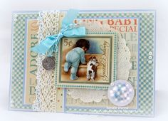 Quixotic Inspirations: A Graphic 45 Little Darling Baby Card - Sandie Dunne