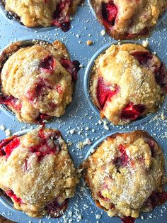 Strawberry Coffee Cake Muffins | Sweet Tea & Thyme