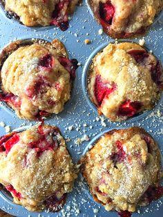 Strawberry Coffee Cake Muffins | Sweet Tea & Thyme