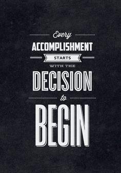 just begin