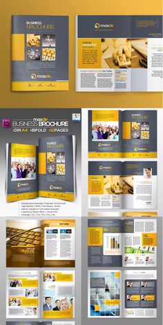 Bifold Clean Brochure Template InDesign INDD - A4
