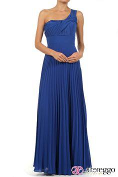 #Vestido #graduaciones #verano #2014 #azul #blue #party #fiesta #noche #largo #maxidress #dress #nigth #escote #asimetrico #chiffon