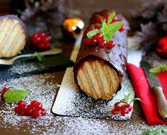 Tronco de galletas para navidad. Recetas fáciles
