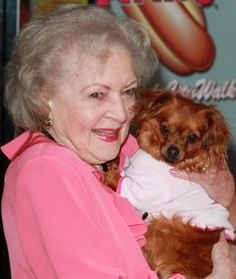 Betty White and her pooch