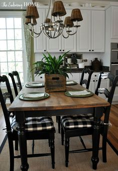 Farmhouse Dining Room Tables And Dining Room Table Makeovers We Can't Stop Looking At . Furniture: Farmhouse Dining Furniture Sets Ideas With Long . Modern Farmhouse Dining Room Table With Chairs Ana White. Home and Family New Kitchen, Kitchen Decor, Cheap Kitchen, Kitchen Table Decorations, Kitchen Ideas, Kitchen Paint, Kitchen Furniture, Furniture Stores, Furniture Design