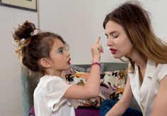 Like Mother Like Daughter - Bianca Balti and daughter Matilde by Martin Parr for Grey S/S 13