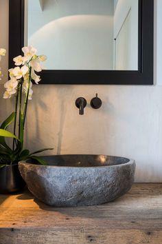 be wp-content uploads 2017 08 Baths Interior, Bathroom Interior Design, Restaurant Bathroom, Stone Basin, Toilet Sink, Downstairs Toilet, House Front Door, Sink Faucets, Cool Rooms